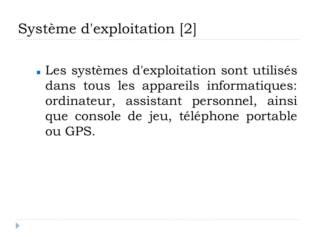 Système d exploitation [2]